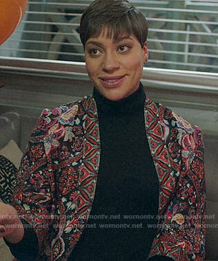 Lucca's floral jacket on The Good Fight