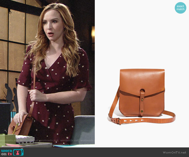 Madewell The Brisbane Crossbody Bag worn by Camryn Grimes on The Young & the Restless