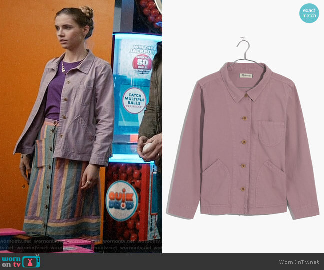Madewell Warren Jacket worn by Stephanie 'Stevie' McCord (Wallis Currie-Wood) on Madam Secretary