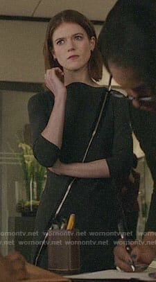 Maia's grey zip front dress on The Good Fight