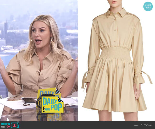 'Ralix' Shirtdress by Maje worn by Morgan Stewart on E! News