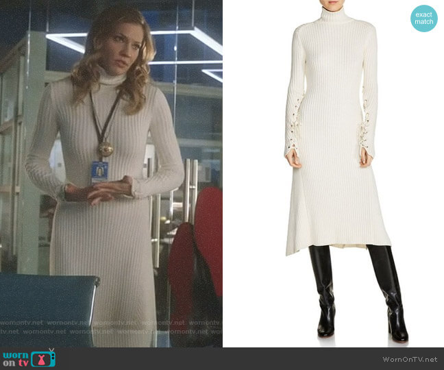'Rafaela' Dress by Maje worn by Charlotte Richards (Tricia Helfer) on Lucifer