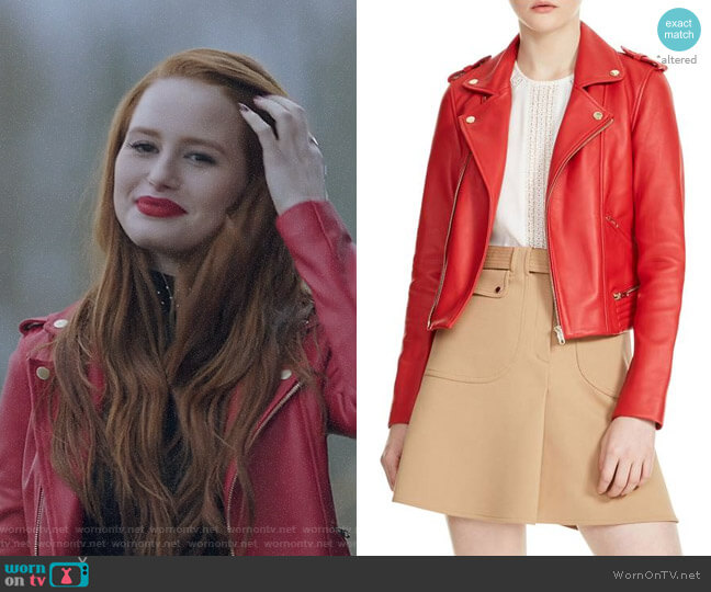 Maje Basalt Jacket worn by Madelaine Petsch on Riverdale