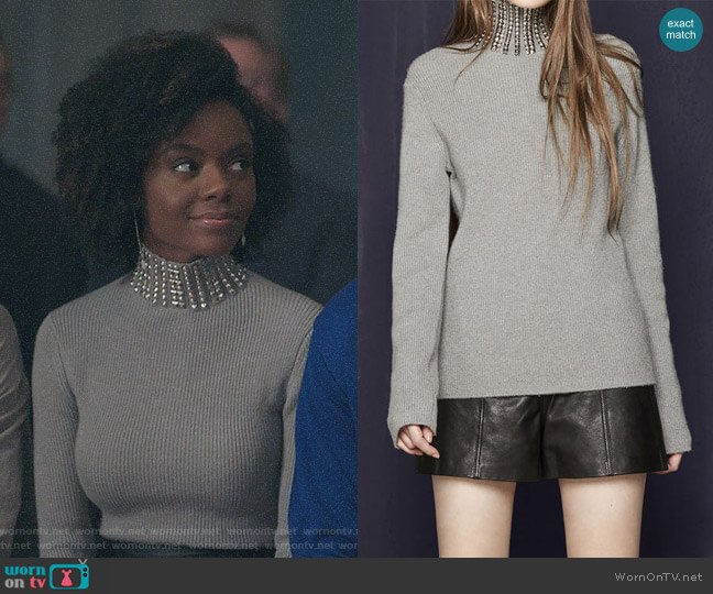 Maje Matias Sweater worn by Ashleigh Murray on Riverdale
