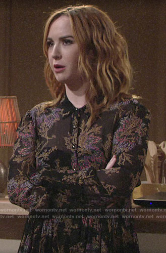 Mariah's floral shirtdress on The Young and the Restless