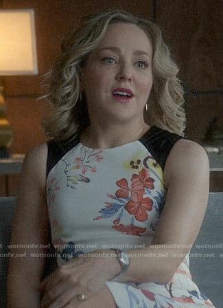 Marissa's floral sheath dress on Bull