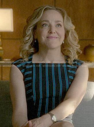 Marissa's blue striped dress on Bull