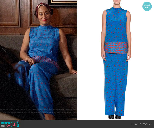 Marni Printed Blouse and Pants worn by Tracee Ellis Ross on Blackish