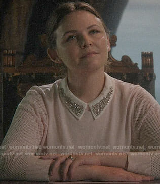 Mary's pink sweater with embellished collar on Once Upon a time