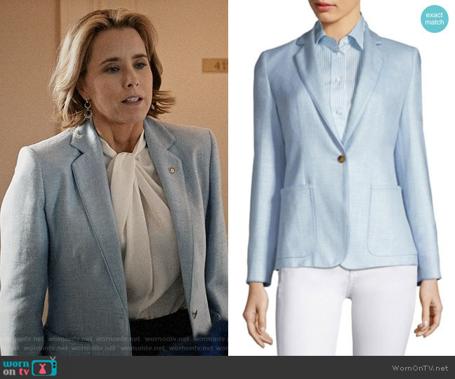 Max Mara Emy Stuoia Jacket worn by Elizabeth McCord (Téa Leoni) on Madam Secretary