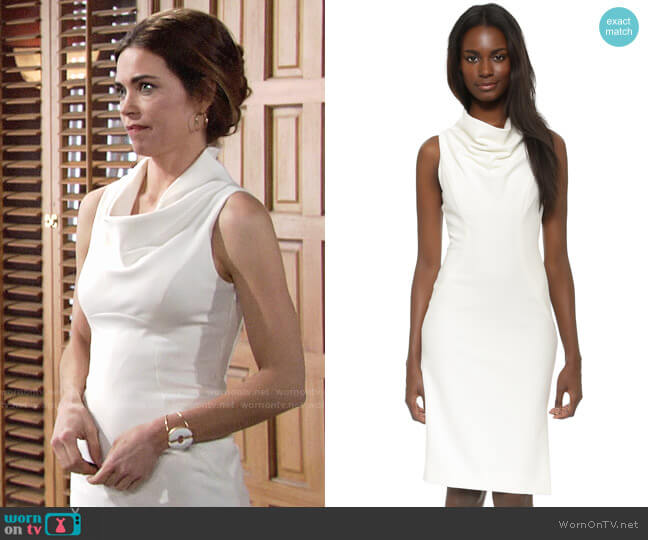 Milly Cowl Neck Sheath Dress worn by Amelia Heinle on The Young & the Restless