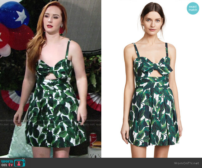 Milly Jordan Dress worn by Camryn Grimes on The Young & the Restless