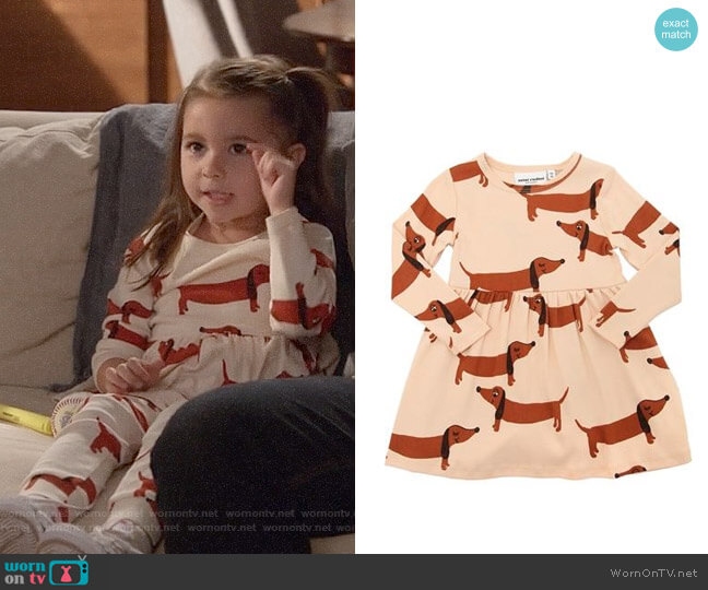 Mini Rodini Dogs Print Dress worn by Danielle Rockoff on New Girl