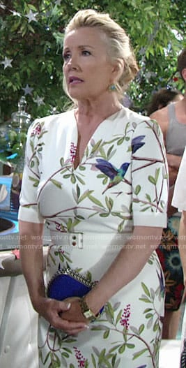 Nikki's floral Memorial Day dress on The Young and the Restless