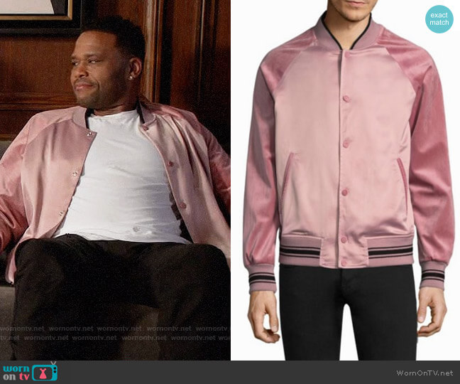 Ovadia & Sons Alex Varsity Jacket worn by Anthony Anderson on Blackish
