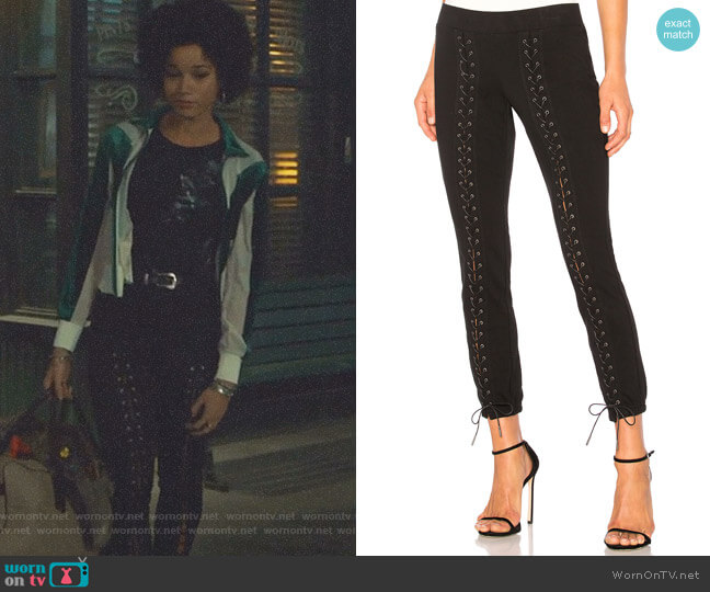 Lace-Up Crop Sweatpants by Pam & Gela worn by Alisha Wainwright  on Shadowhunters