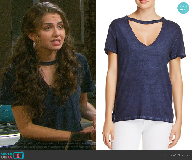 Pam & Gela Cutout Choker Tee worn by Ciara Brady (Victoria Konefal) on Days of our Lives