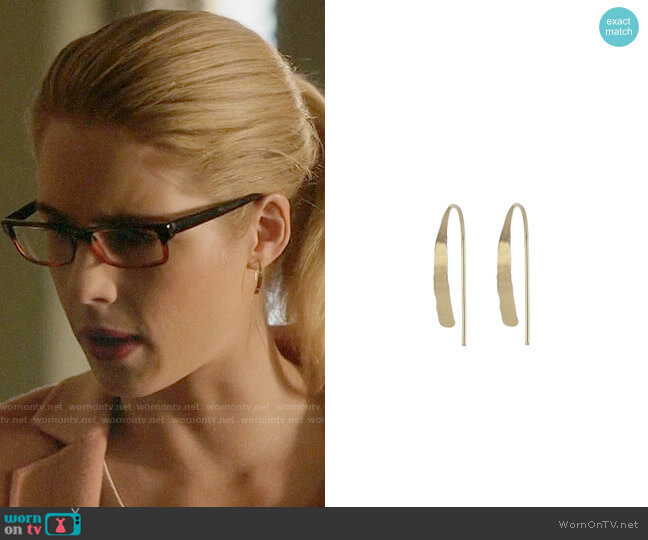 Peggy Li Small Tribal Spike Earrings worn by Felicity Smoak (Emily Bett Rickards) on Arrow