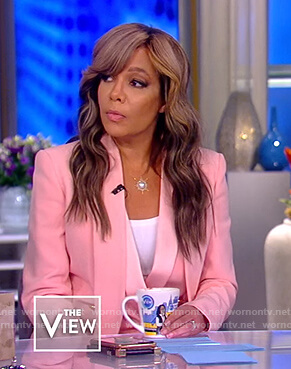 Sunny's pink belted blazer on The View