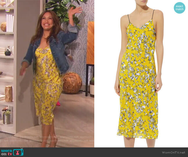 Astrid Garden Slip Dress by Rag & Bone worn by Carrie Inaba  on The Talk