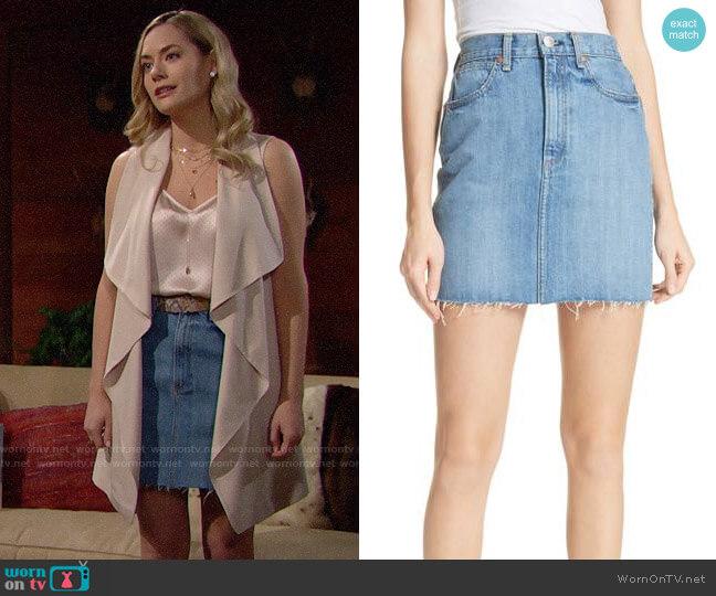 Rag & Bone Moss Denim Skirt worn by Annika Noelle on The Bold & the Beautiful