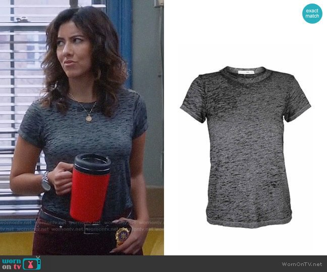 Rag & Bone The Burnout Tee worn by Rosa Diaz (Stephanie Beatriz) on Brooklyn Nine-Nine