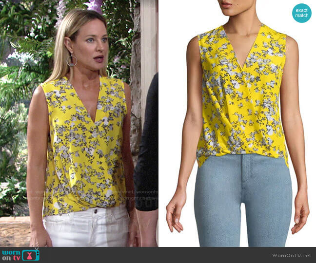 Rag & Bone Victor Blouse worn by Sharon Collins (Sharon Case) on The Young & the Restless