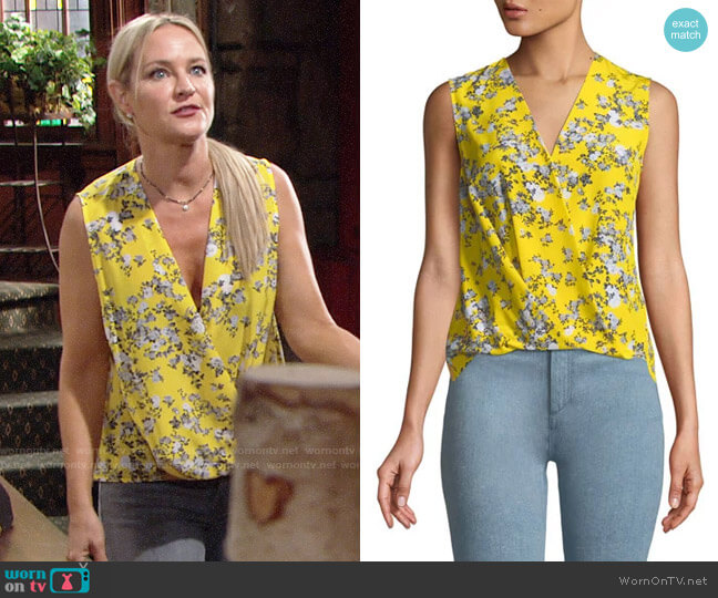 Rag & Bone Victor Blouse worn by Sharon Case on The Young & the Restless