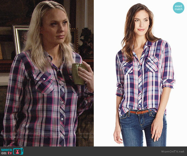 Rails Carmen Shirt worn by Abby Newman (Melissa Ordway) on The Young & the Restless