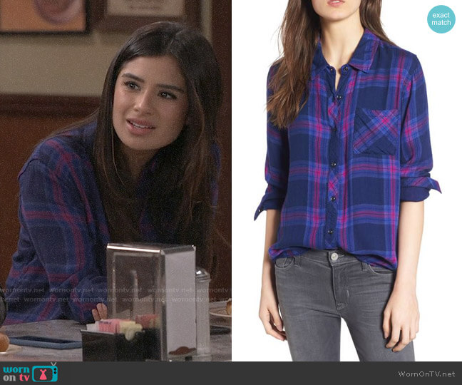 Rails Taitum Shirt worn by Diane Guerrero on Superior Donuts