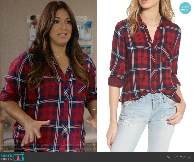 Rails Taitum Shirt worn by Angelique Cabral on Life in Pieces