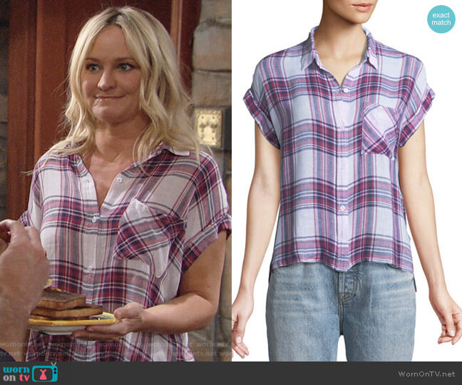Rails Whitney Shirt worn by Sharon Collins (Sharon Case) on The Young & the Restless