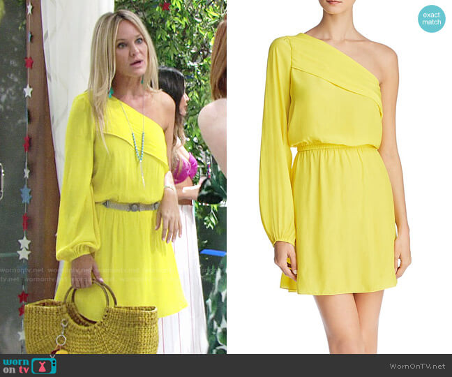Ramy Brook x Martha Hunt Isla One-Shoulder Dress  worn by Sharon Case on The Young & the Restless