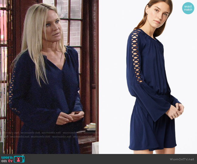 Ramy Brook Briana Dress worn by Sharon Collins (Sharon Case) on The Young & the Restless