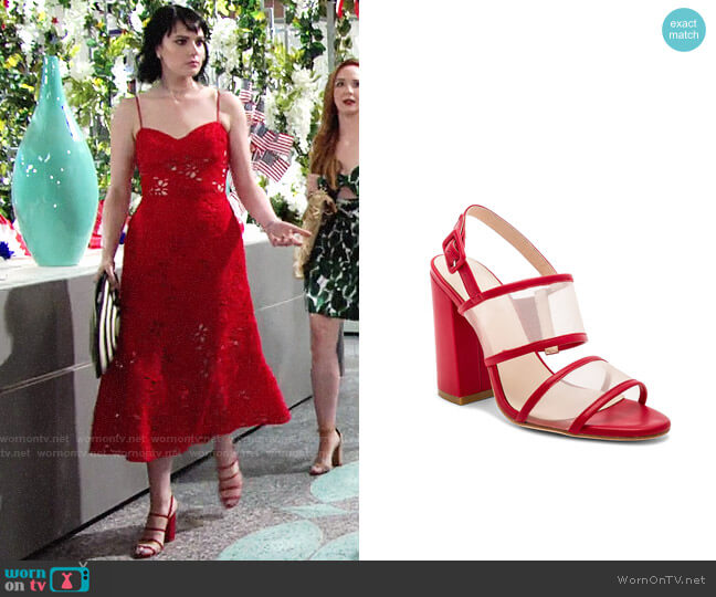 Raye x House of Harlow Sommers Heel worn by Tessa Porter (Cait Fairbanks) on The Young & the Restless