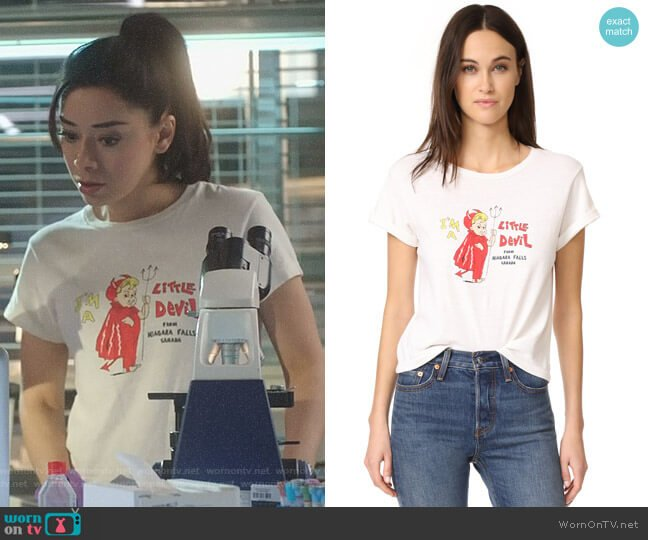 Lucifer Boo Normal: WornOnTV: Ella's White I'm A Little Devil Tee On Lucifer