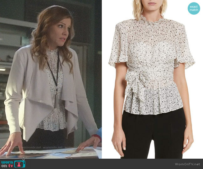 Lucifer Boo Normal: WornOnTV: Charlotte's White Star Print Top And Draped