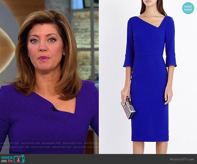 'Danby' Dress by Roland Mouret worn by Norah O'Donnell on CBS This Morning