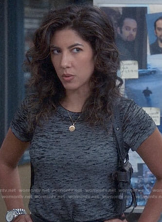 Rosa's grey t-shirt on Brooklyn Nine-Nine