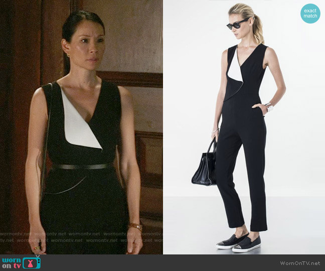Sachin + Babi Kalpana Jumpsuit worn by Lucy Liu on Elementary