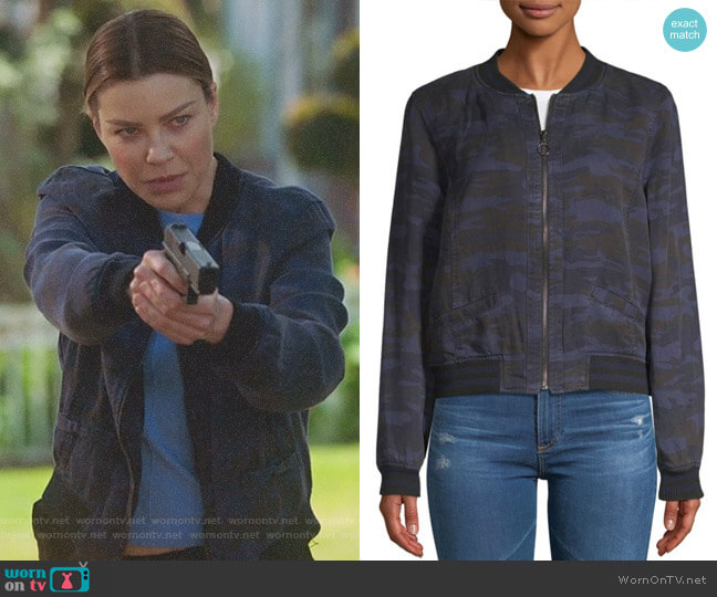 Camo Bomber Jacket by Sanctuary worn by Lauren German on Lucifer