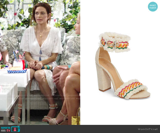 Schutz Zoola Sandal worn by Amelia Heinle on The Young & the Restless