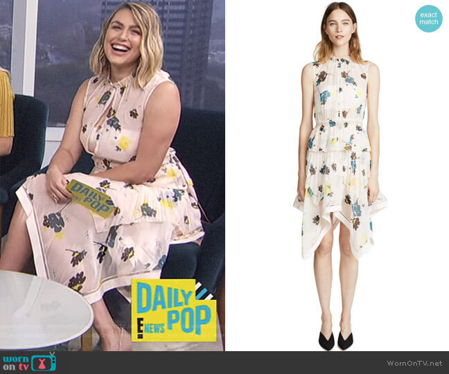 Floral Dress by Self Portrait worn by Carissa Loethen Culiner on E! News
