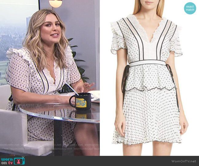 Pleated Plumetis Dress by Self Portrait worn by Carissa Loethen Culiner  on E! News