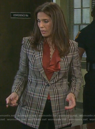 Hope's plaid blazer on Days of our Lives