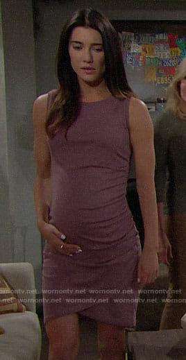 Steffy's purple sleeveless dress on The Bold and the Beautiful