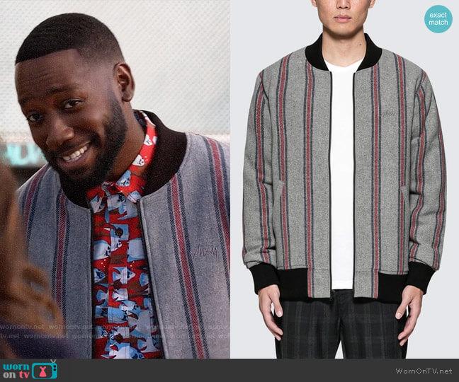 d9d731f85 WornOnTV: Winston's striped bomber jacket on New Girl | Lamorne ...