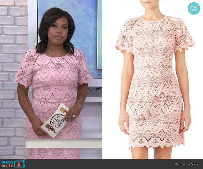 Laced Elora Dress by Style Stalker worn by Sheinelle Jones  on Today