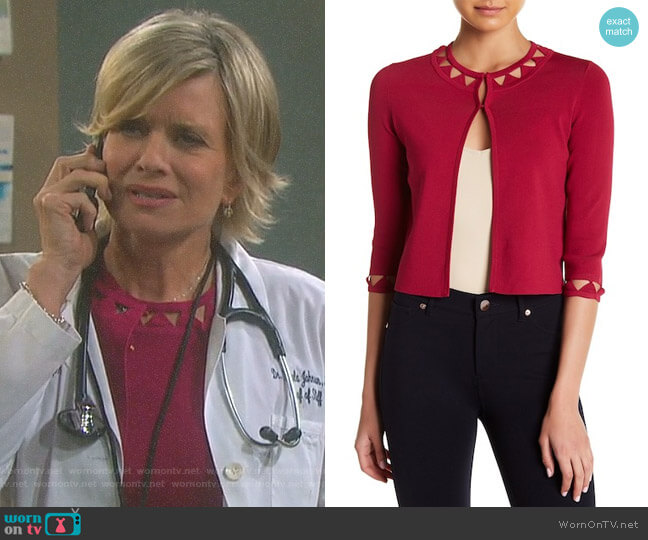 'Lissye' Cardigan by Ted Baker worn by Mary Beth Evans on Days of our Lives