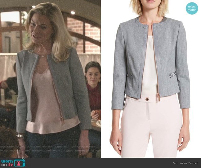 'Nadae' Jacket by Ted Baker worn by Stephanie Borden (Kylee Evans) on Good Witch